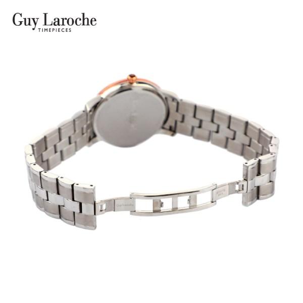 Guy Laroche Timepieces Guy Laroche Watch นาฬิกาข้อมือผู้ชาย รุ่น OSCAR - ( สีเงิน )