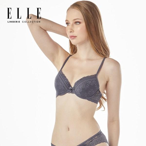 Elle Lingerie Elle Lingerie Moulded Bra บรามีโครง แต่งลูกไม้ - LB7533