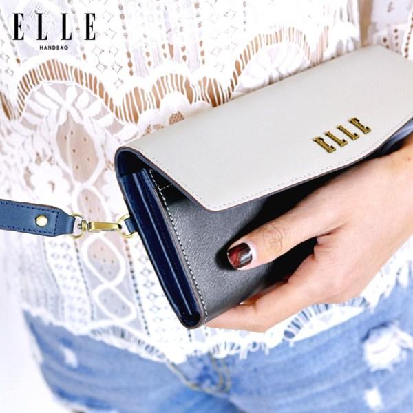 Elle Bag ELLE BAG กระเป๋า Long Wallet รุ่น VINTAGE STYLE COLLECTION EWW583