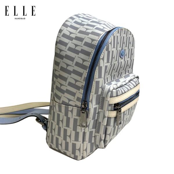 Elle Bag ELLE Bag กระเป๋าเป้สะพายหลังผู้หญิง รุ่น MONOGRAM CANVAS มี 2 สี EWP112