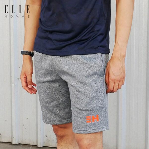 Elle Homme ELLE HOMME กางเกงขาสั้น ดีไซน์ sport รุ่น ELLE HOMME SPORT สีเทา (W8L256)