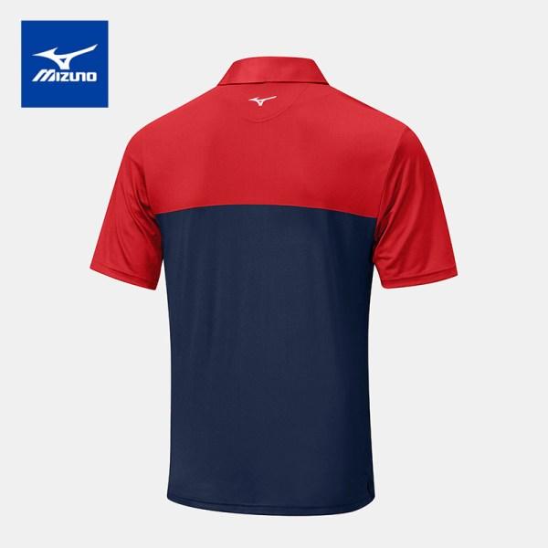 Mizuno golf Mizuno Golf เสื้อโปโลกอล์ฟ รุ่น QUICK DRY HORIZON สีแดง-น้ำเงิน เสื้อโปโล เสื้อกอล์ฟ