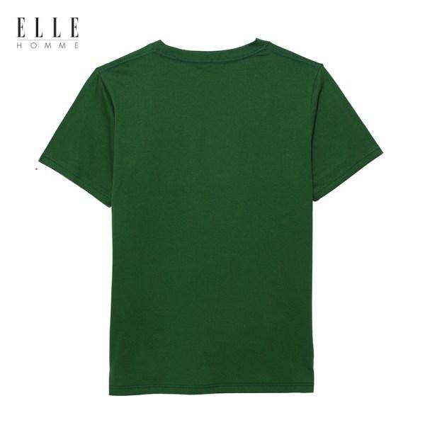 Elle Homme ELLE HOMME เสื้อยืดผู้ชายคอกลม สีเขียว (W8K499)
