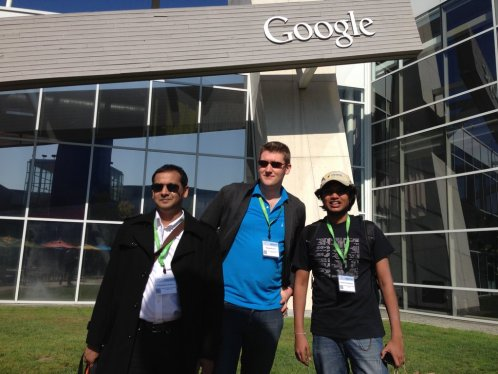 SSF's Chamindra de Silva, Michael Howden and Ramindu Deshapriya at the Google Mentor Summit