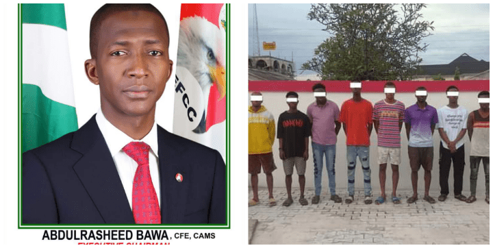 What EFFC Said About Fainting of Bawa 11 Suspected Fraudsters Arrested