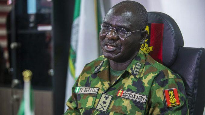 Chief of Army Staff, Lt. General Tukur Buratai.