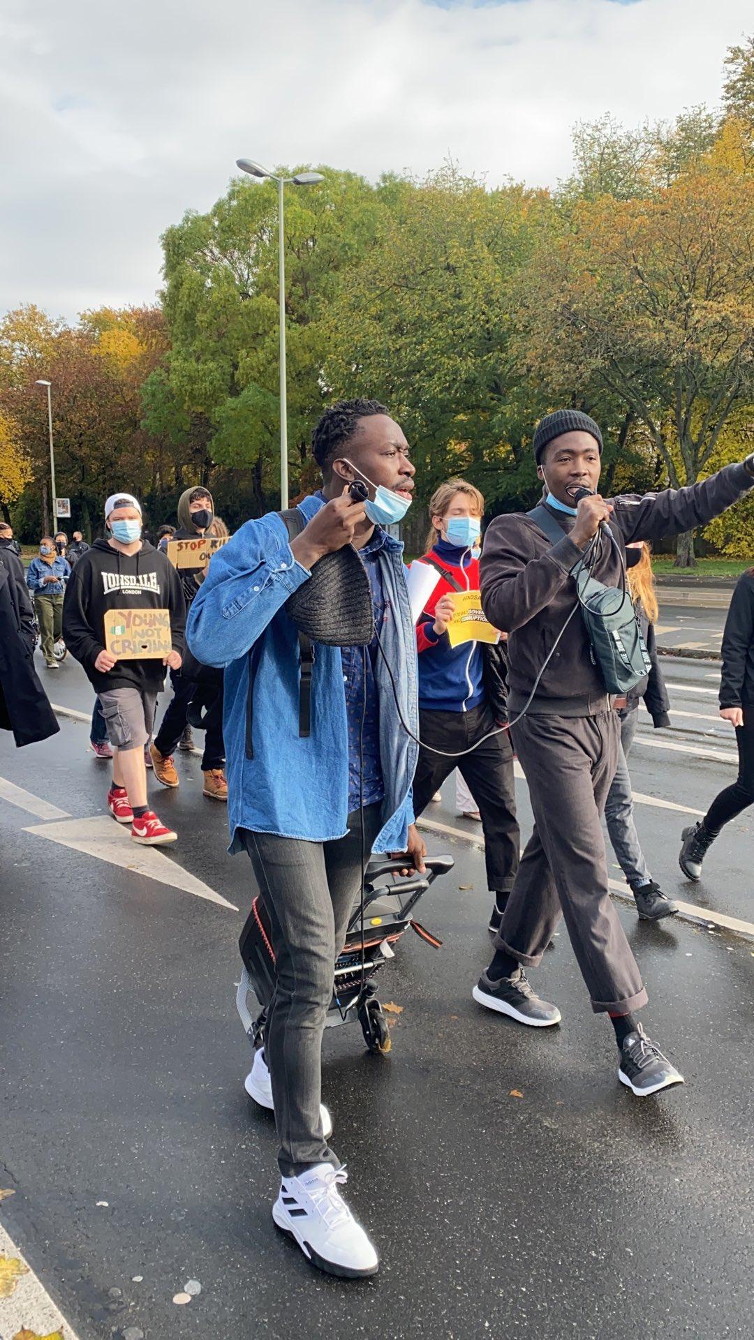 #EndSARS Protesters In Germany