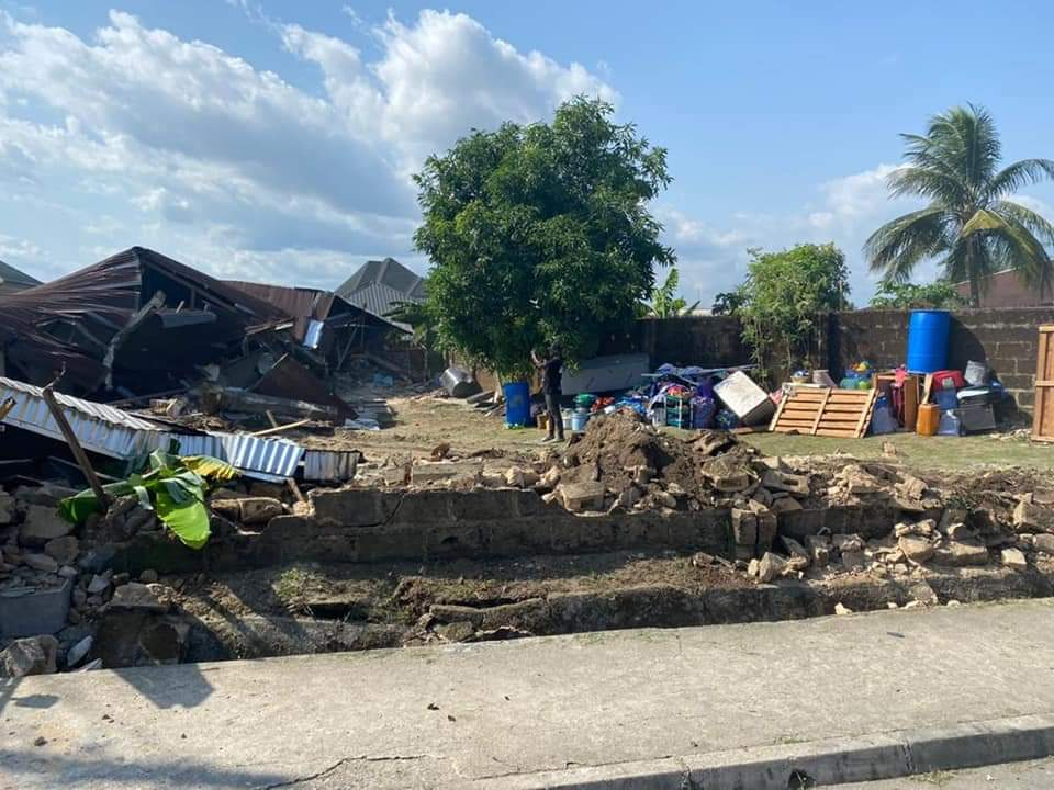 His shrine and two houses where kidnappers and militants are fortified with juju were demolished by the security outfit