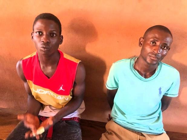 Adegoke and his accomplice, Sunday at the police custody
