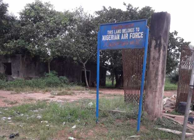 Abandoned Nigerian Air Force building in Edo State