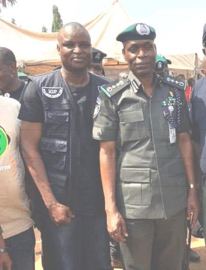 DCP Abba Kyari with the Inspector-General of Police (IGP), Mohammed Adamu.