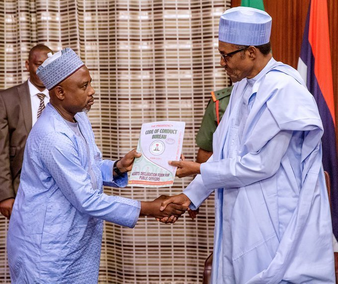 President Buhari submits assets declaration forms to the Code of Conduct Bureau (CCB)