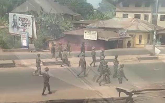 Soldiers in Orlu