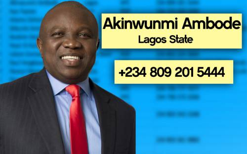Akinwunmi%20Ambode Photos: Phone numbers of Nigerian governors leaked