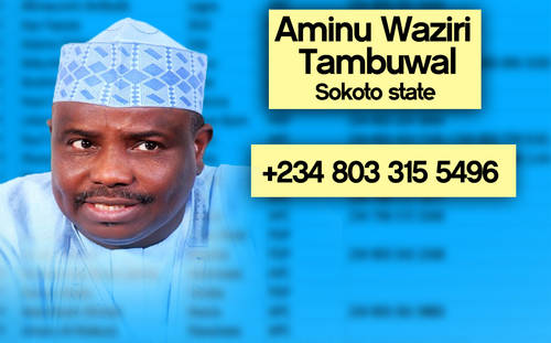 TAMBUWAI Photos: Phone numbers of Nigerian governors leaked