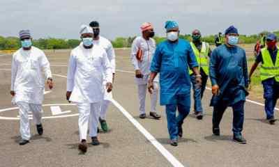 Just In: Tinubu, Nyako, Obasa arrive Benue as Federal University honours APC National Leader (Photos)