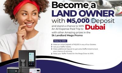 Over 1-5millions Nigerians will benefit from the 5k Landlord Mega Promo, whereby you buy land in Ibeju Lekki, Ikorodu, and other locations been managed by Resau Citation investment Ltd. Starting with 5000 Naira as your initial payment, the deposit will also give you entitlement to win various instant prizes immediately you purchase the form following the terms and conditions. While the Grand prize winner will embark on a full paid expenses trip to Dubai Package by 5k landlord under the umbrella body of Resau Citation Investment Ltd. Breaking down the modalities to be taken to benefits by Nigerians, the Project Coordinator of 5k Landlord and Managing Consultant of Resau Citation Investment Ltd, Mr. Sanusi Oluwatosin explained while unveiling the 5K landlord mega Promo stated that, 5k landlord is an initiative committed to ensuring Affordable Land and Housing for Nigerians without stress. He stated further that the Resau Citation Investment estate located in Ibeju Lekki, Ikorodu among others, will enable housing challenges to be something of the past. He remarked that the idea is for Nigerians to become a landlord stating with an initial deposit of #5000. Clickwww.5klandlord.ng HOW TO WINMake an initial deposit of 5000 in any of 5k landlord Estate, Get your Ticket which qualifies you for an instant prizeMake additional deposits to get you an extra Raffle ticket to boost your chances of winning, Keep your raffle tickets for the Mega Draw to WIN…terms, and condition applyLong on towww.5klandlord.ng for more details