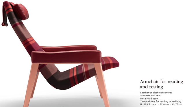 armchair for reading or resting