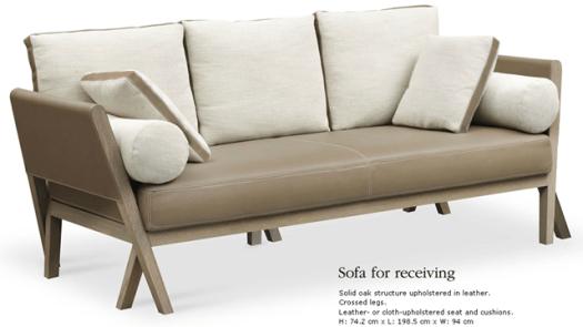 sofa for receiving