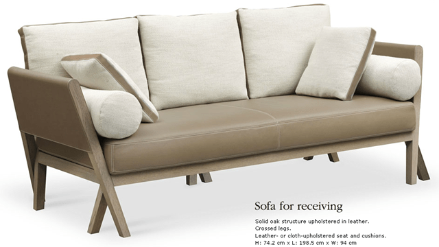 sofa for receiving