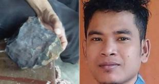Man becomes rich after Meteorite fell into his house from space