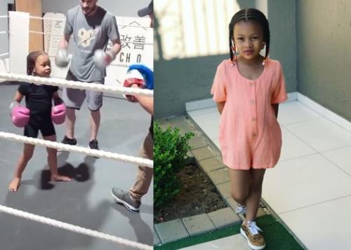 Photo: Kairo Forbes showcases her boxing moves