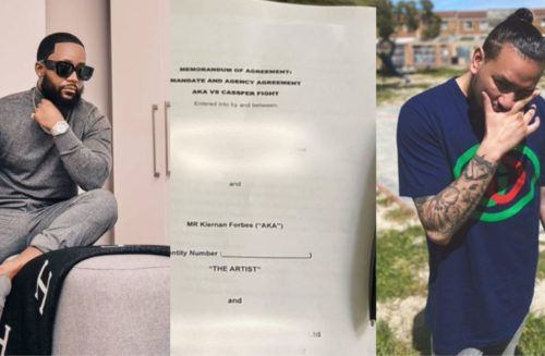 Cassper Nyovest slams AKA for deleting signed boxing match contract