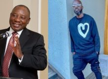 PHOTO: Cyril Ramaphosa expresses excitement bumping into Black Coffee