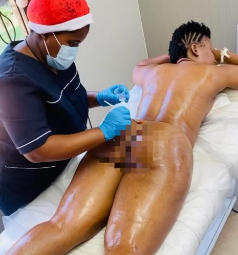 VIDEO: Zodwa Libram gose completely naked during spa session