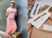 Somizi bought Rich Mnisi's R60k Xibelani Skirt