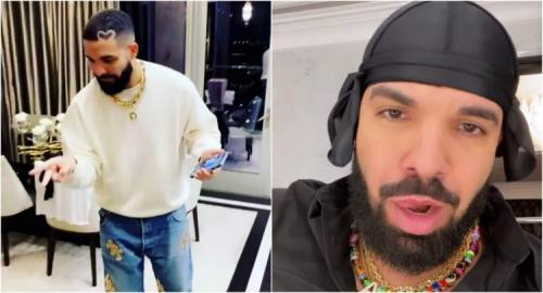 Watch: Drake Celebrates Record 1, 2, 3 Hot 100 Debuts with Private Party