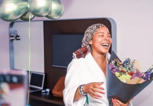 Masechaba Khumalo showered with affection on 38th birthday celebration (Video)