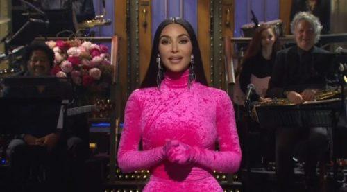 Kim Kardashian Jokes About Divorce with Kanye in SNL Monologue