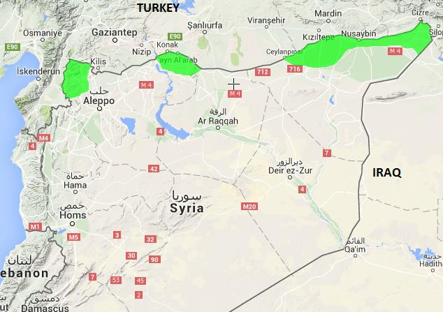 Kurdish Majority areas in Syria