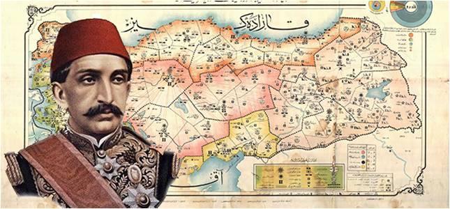 II.Abdülhamit'in yaptırdığı çalışma sonucu 65 Noktada Bulunan Petrol Haritası
