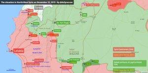 Kasım 2015 sonu itibariyle Suriye'nin Kuzey batısında son durum