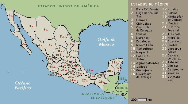 meksika-eyalet-haritasi