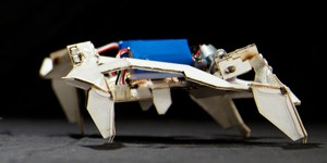 Origami Robot Folds and Crawls by Itself
