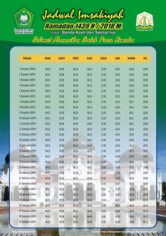 Jadwal Imsakiyah 1439 Ramadan 2018 - Aceh Banda Aceh1