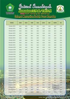 Jadwal Imsakiyah 1439 Ramadan 2018 - Aceh Tamiang