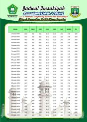 Jadwal Imsakiyah 1439 Ramadan 2018 - Banten Tangerang
