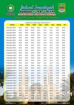 Jadwal Imsakiyah 1439 Ramadan 2018 - Bekasi Jawa Barat