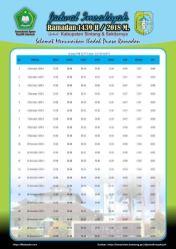 Jadwal Imsakiyah 1439 Ramadan 2018 - Kabupaten Sintang KalBar