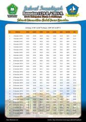 Jadwal Imsakiyah 1439 Ramadan 2018 - Kabupaten bintan
