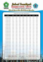 Jadwal Imsakiyah 1439 Ramadan 2018 - Kabupateng Brebes Jawa Tengah
