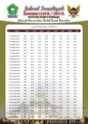 Jadwal Imsakiyah 1439 Ramadan 2018 - Kota Kediri Jawa Timur
