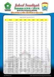 Jadwal Imsakiyah 1439 Ramadan 2018 - Kota Palembang SUMSEL