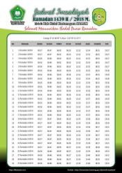 Jadwal Imsakiyah 1439 Ramadan 2018 - Kutai Karta Negara