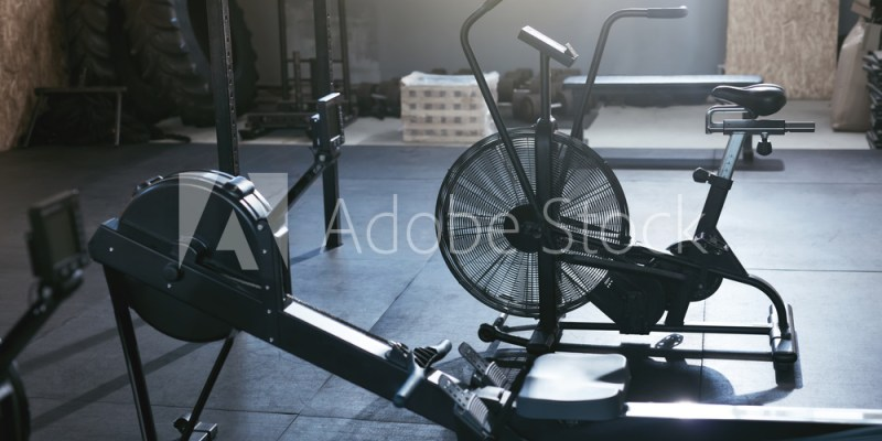 Sport Training Equipment At Crossfit Gym