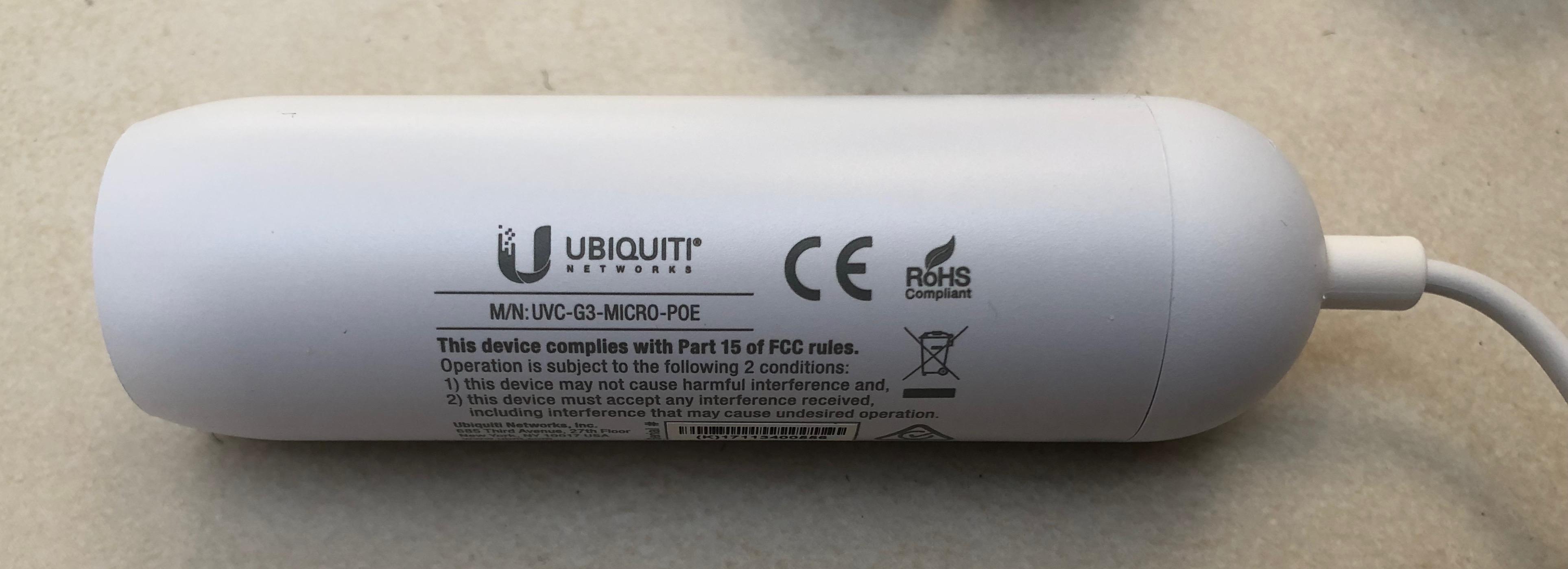 POE Adapter für die UniFi Micro G3 Kamera